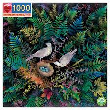 Birds in Ferns: 1000-piece Jigsaw Puzzle Eeboo (EB-PZTBNF)