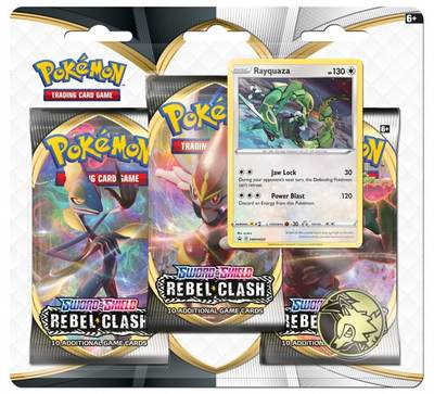 Sword and Shield- Rebel Clash Three Booster Blister