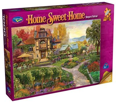 Large 0008612 holdson puzzle home sweet home s2 1000pc vineyard retreat 625