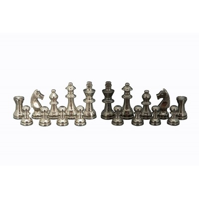 Black Nickle & Silver 80mm Chess Pieces