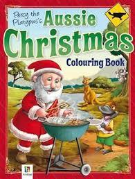 Aussie Christmas Colouring Book - Percy the Platypus