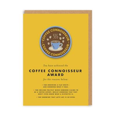 Coffee Connoisseur Card & Iron On Patch