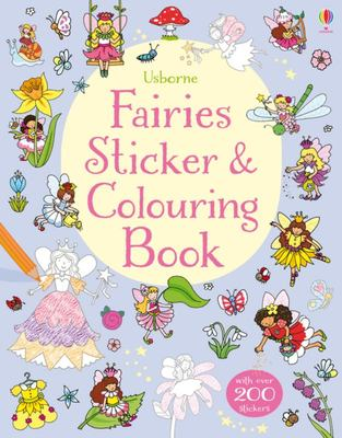Fairies Sticker and Colouring Book (Usborne)