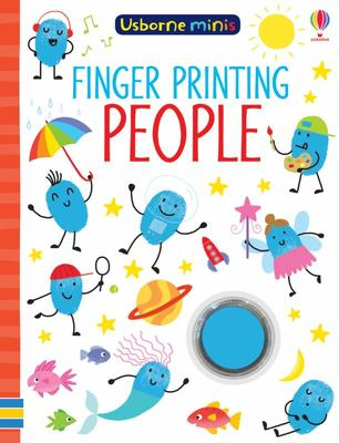 Mini Books Finger Painting People