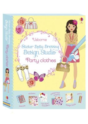 Design Studio: Party Clothes (Usborne Sticker Dolly Dressing)