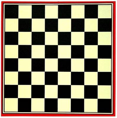 Draughts And Chess Board 35 Cm