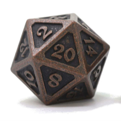 D20 MYTHICA DARK COPPER SINGLE METAL DICE