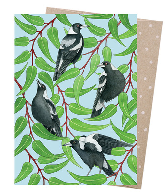 Card - Magpies Warble