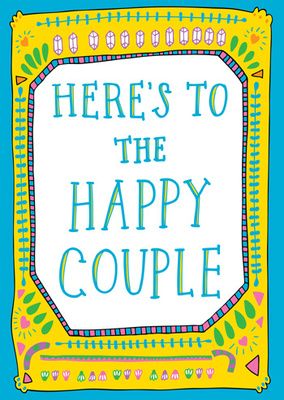Happy Couple blue card