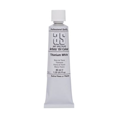 A.S. OIL 40ML S1 TITANIUM WHITE