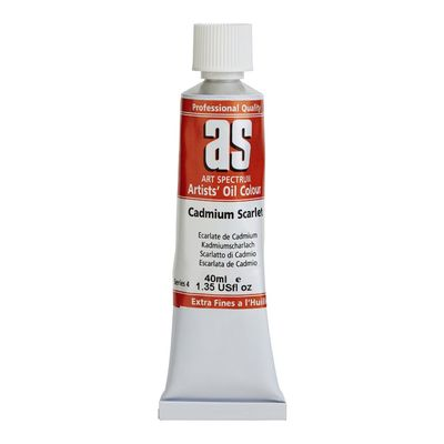 Large cs4   art spectrum oil 40ml cadmium scarlet