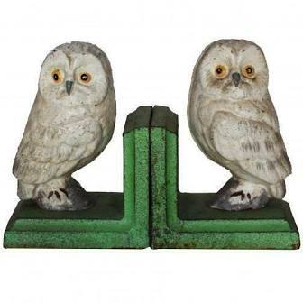 Large bookends owl