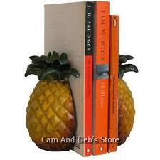 Large bookends pineapple