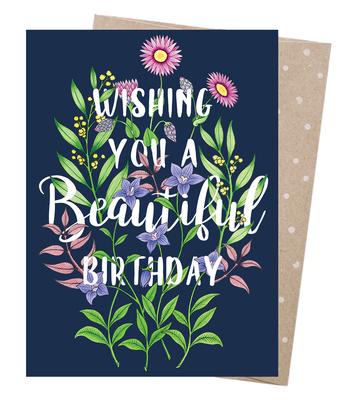 Blank Card Beautiful Birthday