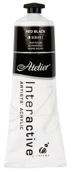 Atelier Interactive Acrylic S1 Red Black 80ml AT80RBK