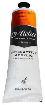 Atelier Interactive Acrylic S4 Cadmium Orange 80ml AT80COR