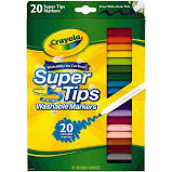 Markers Washable SuperTips pk20 (588106)
