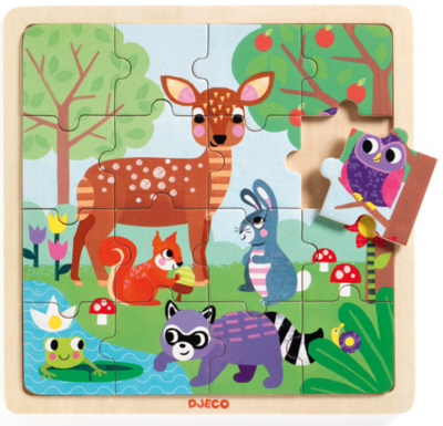 Djeco Wood Forest Puzzle 16 Pieces