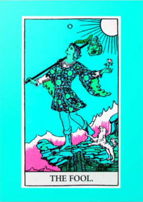 The Fool Tarot Greeting Card