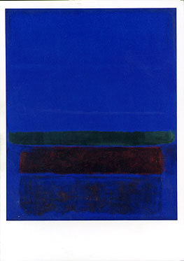 Untitled Blue Greeting Card