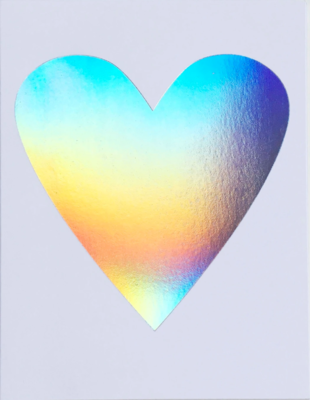 Hologram Heart Greeting Card