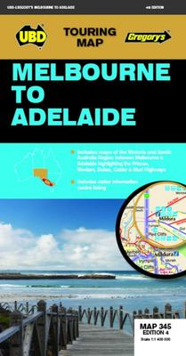 Melbourne to Adelaide Map 345 4th Ed