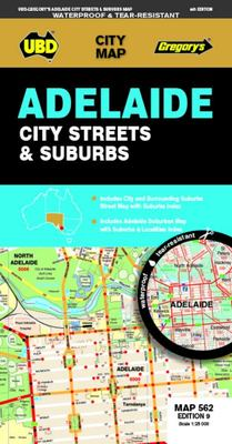 Adelaide City Streets and Suburbs Map 562 9th Ed (waterproof)