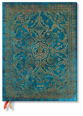 Flexi Azure Ultra WTO Weekly Notebook Paperblanks Diary 2021 Verso