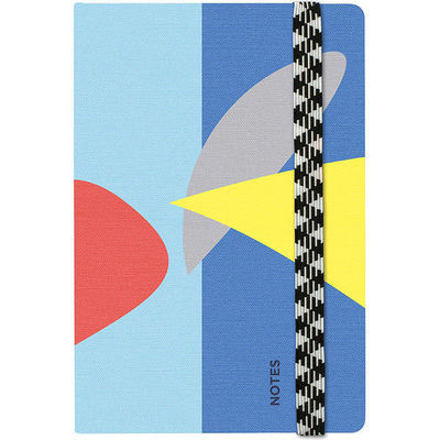Canvas Notebook Leaf dot grid A6
