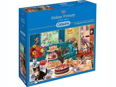 Gibsons Feline Frenzy 1000pce Puzzle