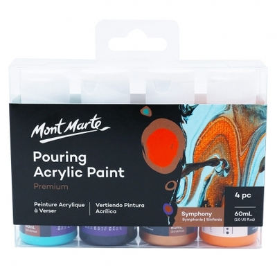 MM Pouring Acrylic 60ml 4pc - Symphony PMPP4201