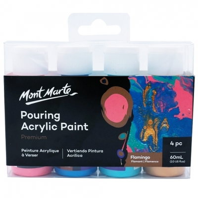 MM Pouring Acrylic 60ml 4pc - Flamingo PMPP4204
