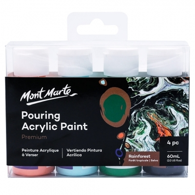 MM Pouring Acrylic 60ml 4pc - Rainforest PMPP4205