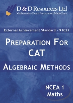 Practice External Assessments 1: Algebraic Methods - 91027 (2020)