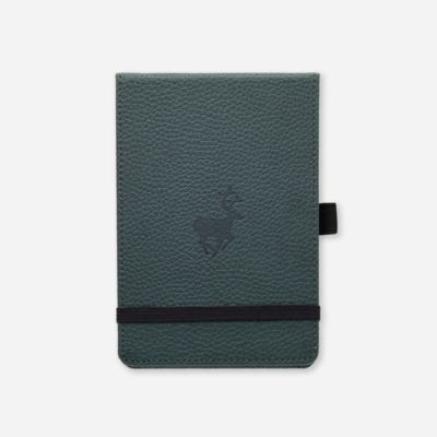Dingbats*  Wildlife Green Deer Notebook A6+ Lined