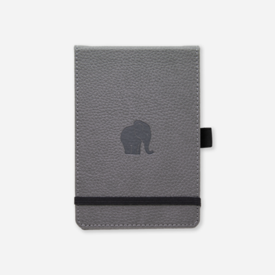 Dingbats*  Wildlife Grey Elephant Reporter Notebook A6+ Lined