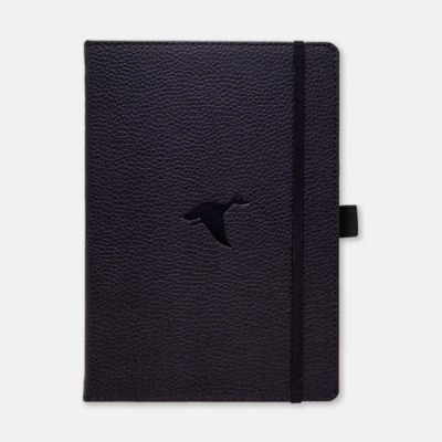 Dingbats* A5+ Wildlife Black Duck Notebook dots