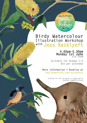Jess Racklyeft Birdy Watercolour Illustration Workshop