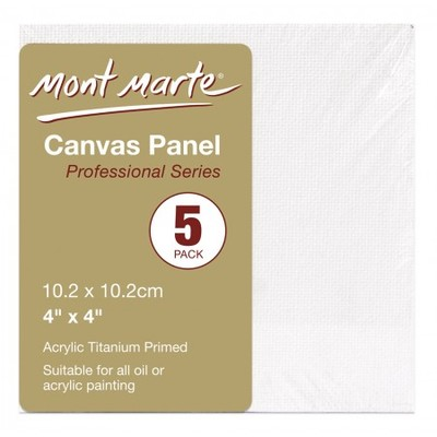 CMPL1010 Canvas Panels Pack 5 10.2x10.2cm