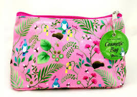 Cosmetic Bag NZ Flowers Pink