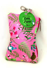 Coin Purse NZ Flowers Pink