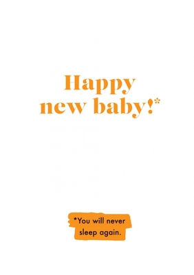 Card - Happy New Baby