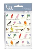 Homepage edward lear birds thank you notecards 8 pkt
