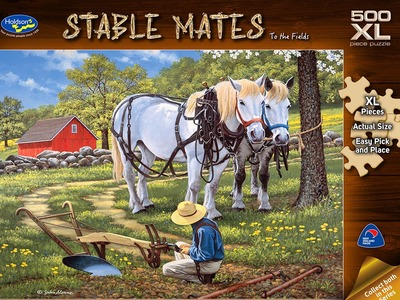 Stable Mates To the Fields 500 Piece Jigsaw Puzzle Extra Large