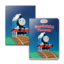 Goodnight Thomas Board Book & Printed Canvas