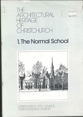 The Architecturual Heritage of Christchurch multi volume