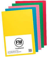 File Folders Foolscap Pack of 10 Asst Colours