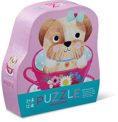Pup in a Cup 12 pc Mini Puzzle