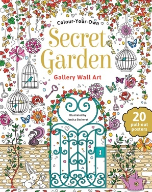 Colour Your Own Secret Garden Gallery Wall Art