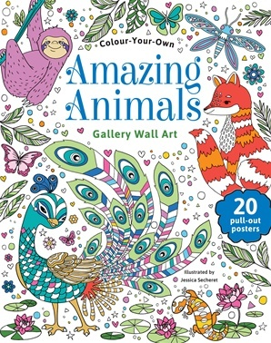 Colour Your Own Amazing Animals Gallery Wall Art